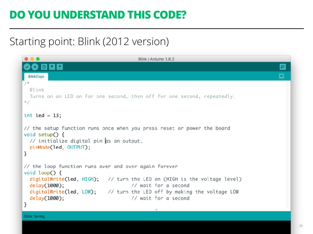 DO YOU UNDERSTAND THIS CODE? Starting point: Bl...