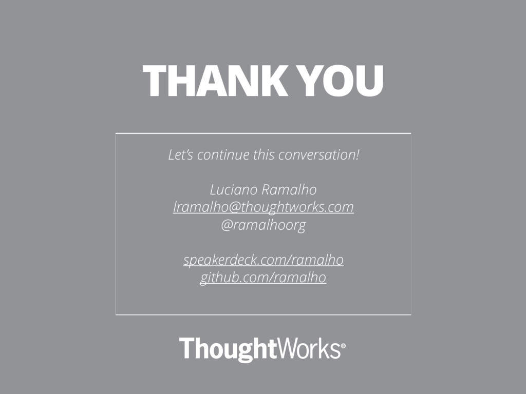 Let's continue this conversation! Luciano Ramal...