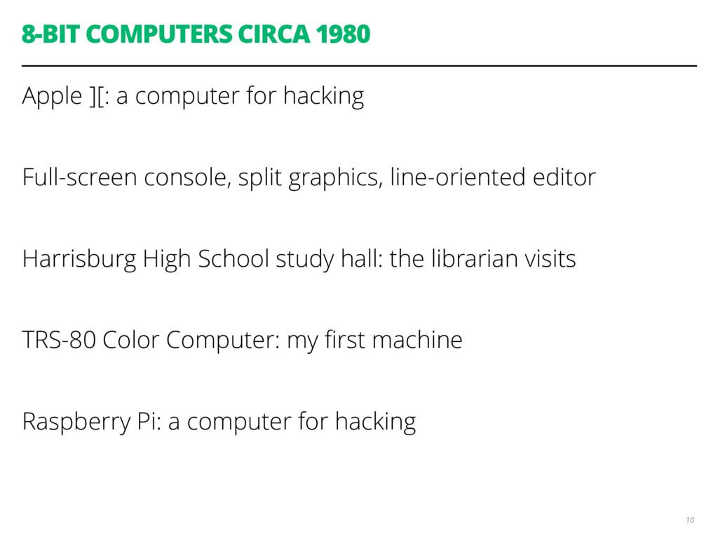 8-BIT COMPUTERS CIRCA 1980 Apple ][: a computer...