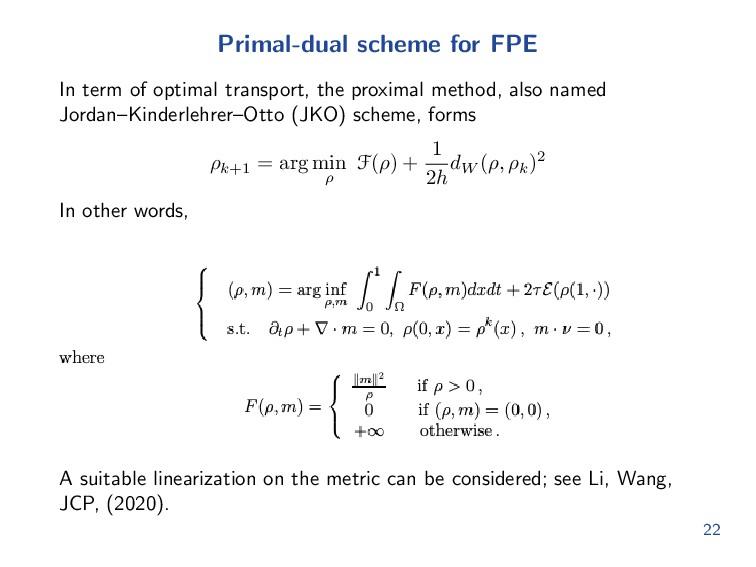 Review: Proximal method Consider an Euclidean g...