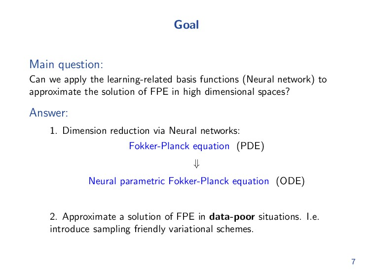 Overcome curse of dimensionality Many methods h...