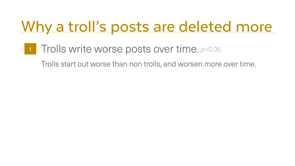Why a troll's posts are deleted more Trolls wri...