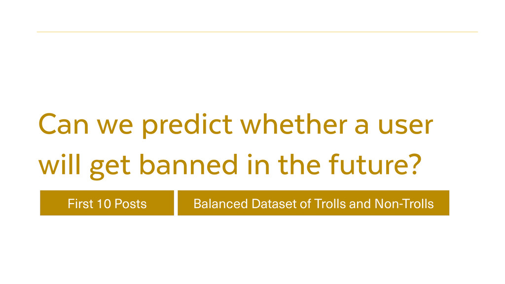 Can we predict whether a user will get banned i...