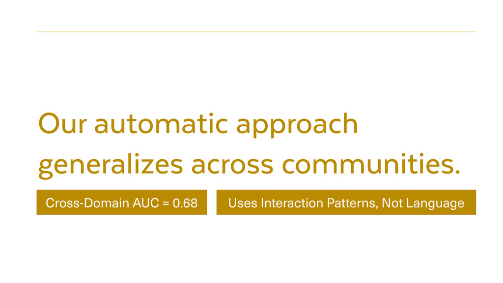 Our automatic approach generalizes across commu...