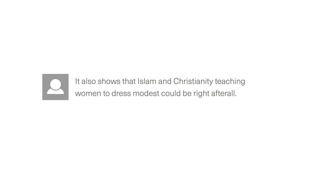 It also shows that Islam and Christianity teach...