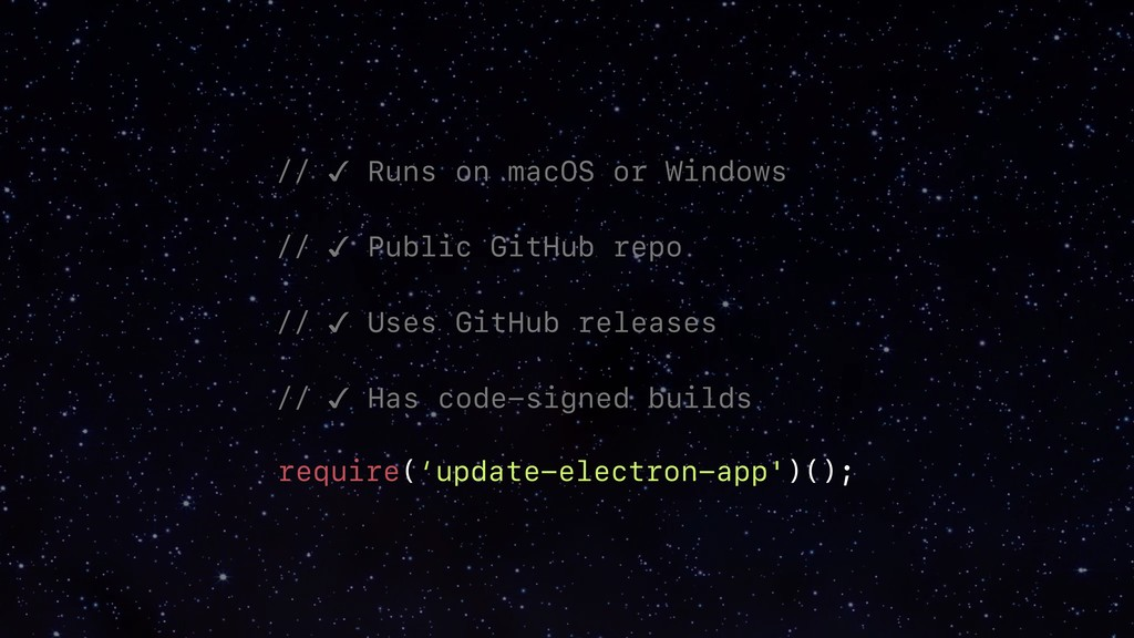 // ✓ Runs on macOS or Windows____ // ✓ Public G...
