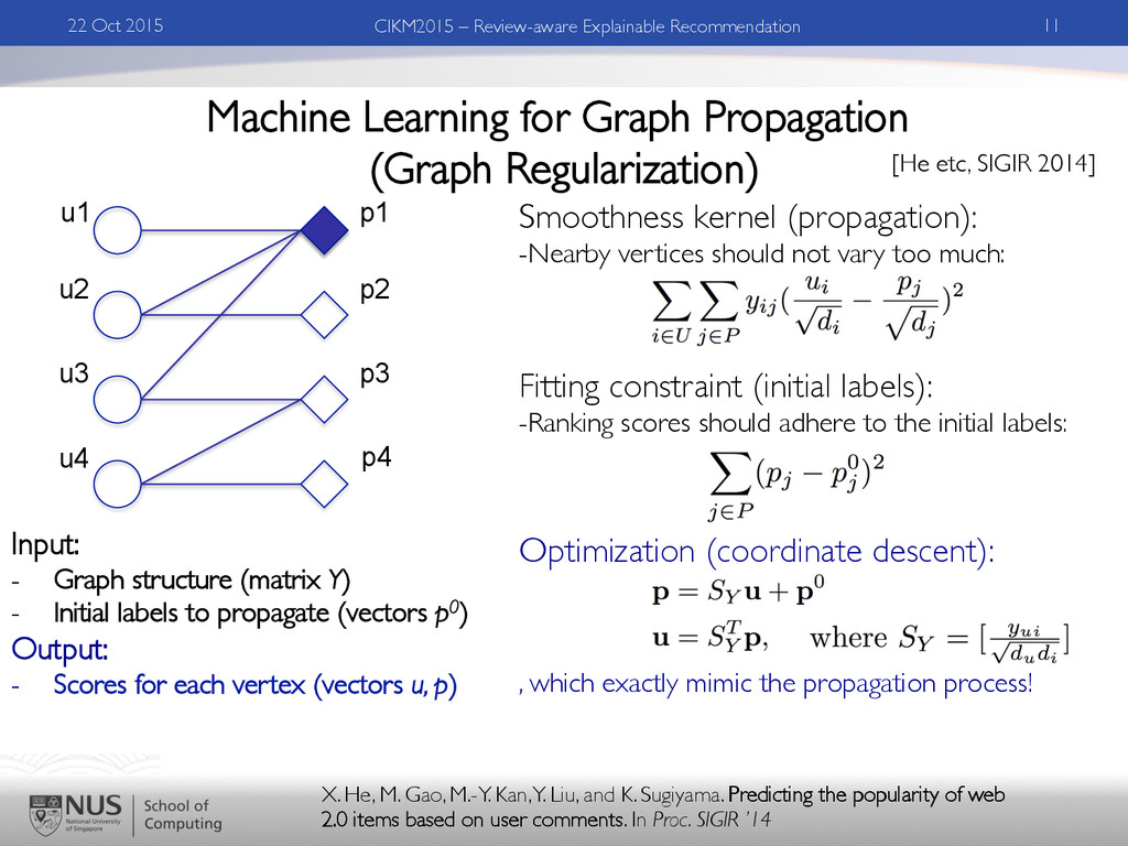 Machine Learning for Graph Propagation