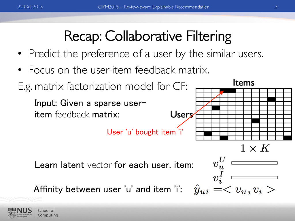 Recap: Collaborative Filtering •  Predict the p...