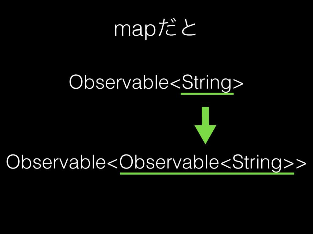 mapͩͱ Observable<String> Observable<Observable<...