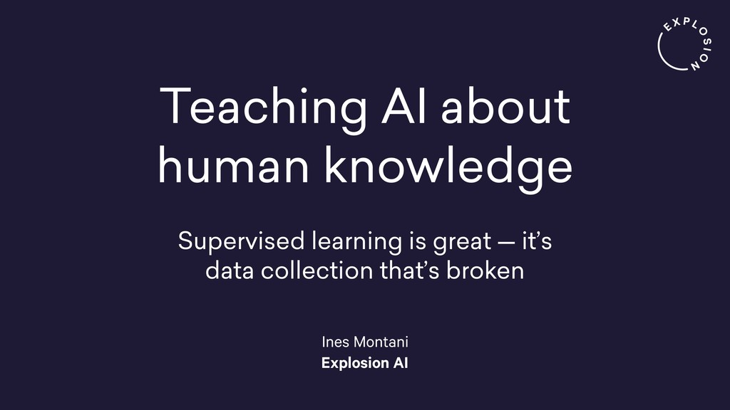 Teaching AI about human knowledge Supervised le...