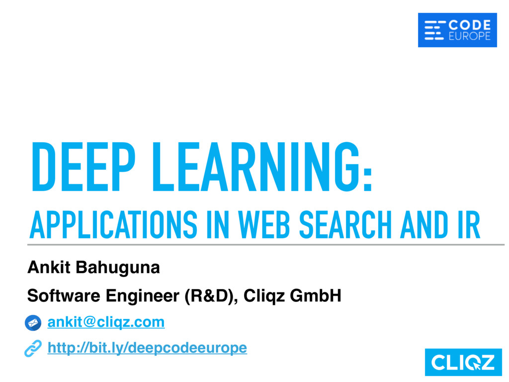 DEEP LEARNING: APPLICATIONS IN WEB SEARCH AND ...