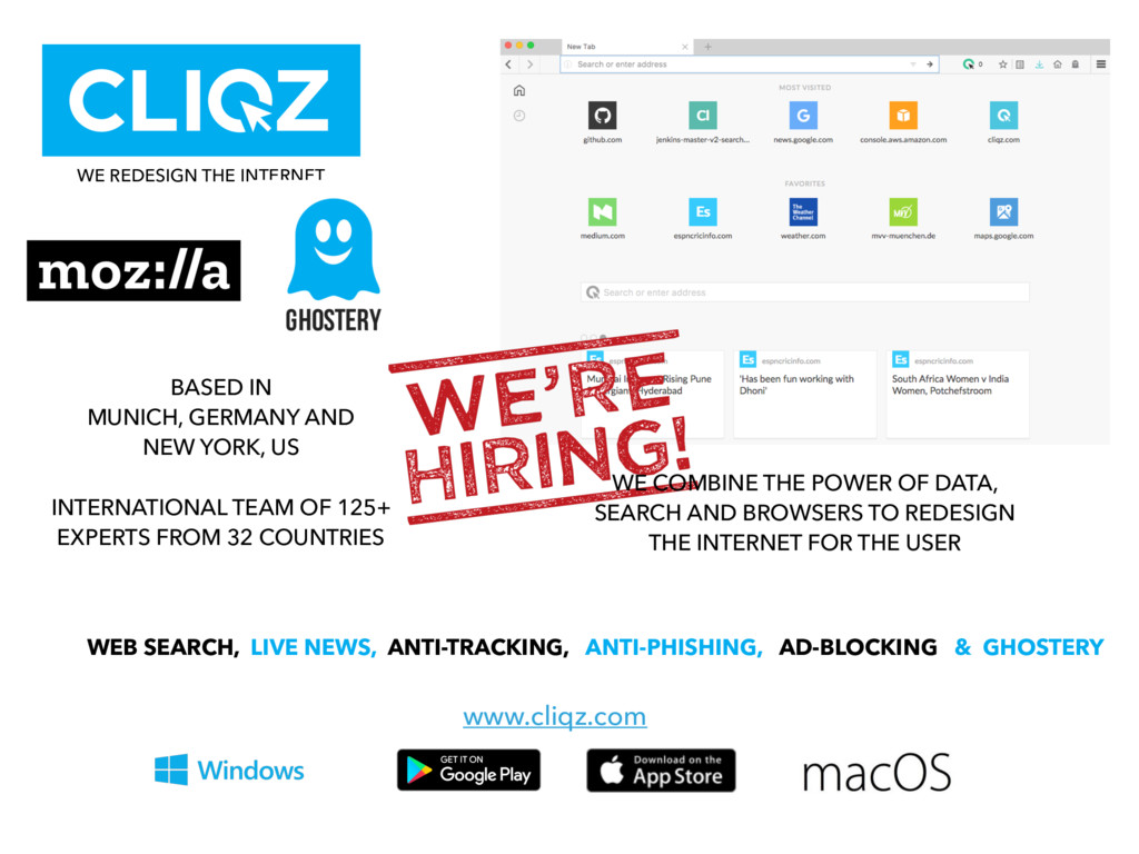 WE REDESIGN THE INTERNET BASED IN  MUNICH, GER...