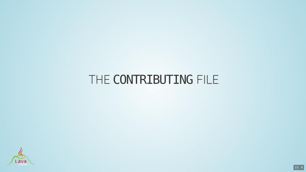 CONTRIBUTING 15 . 9