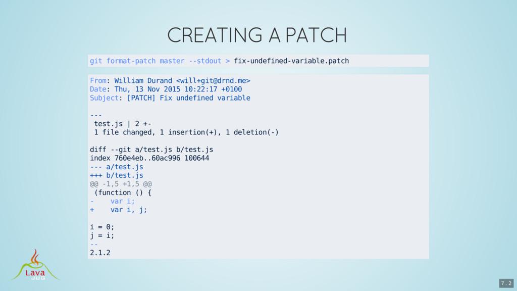 git format-patch master --stdout > fix-undefine...