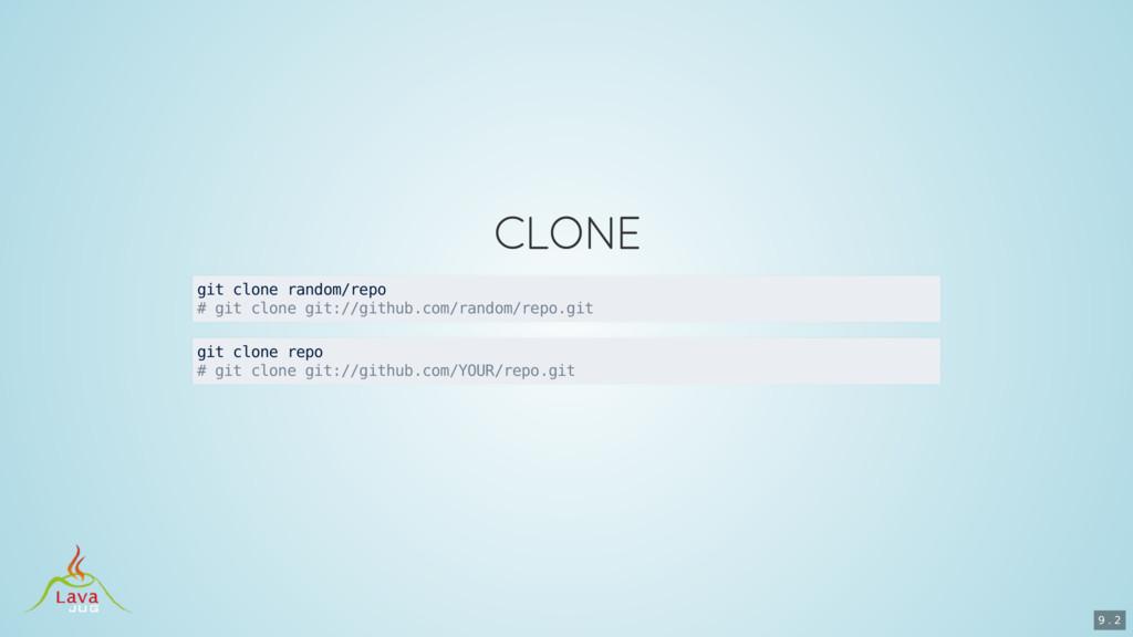 git clone random/repo # git clone git://github....