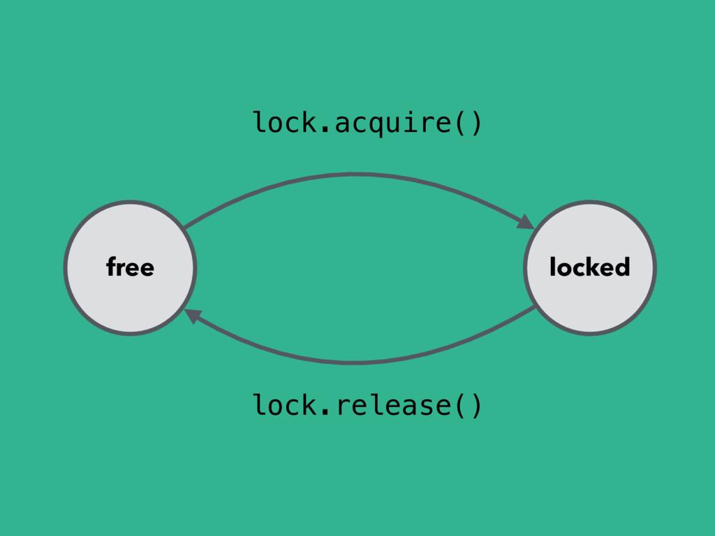 free locked lock.acquire() lock.release()