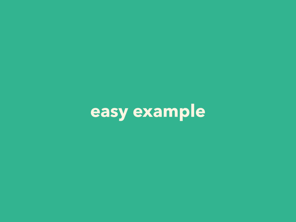 easy example