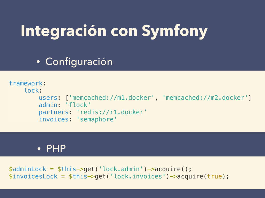 Integración con Symfony framework: lock: users:...