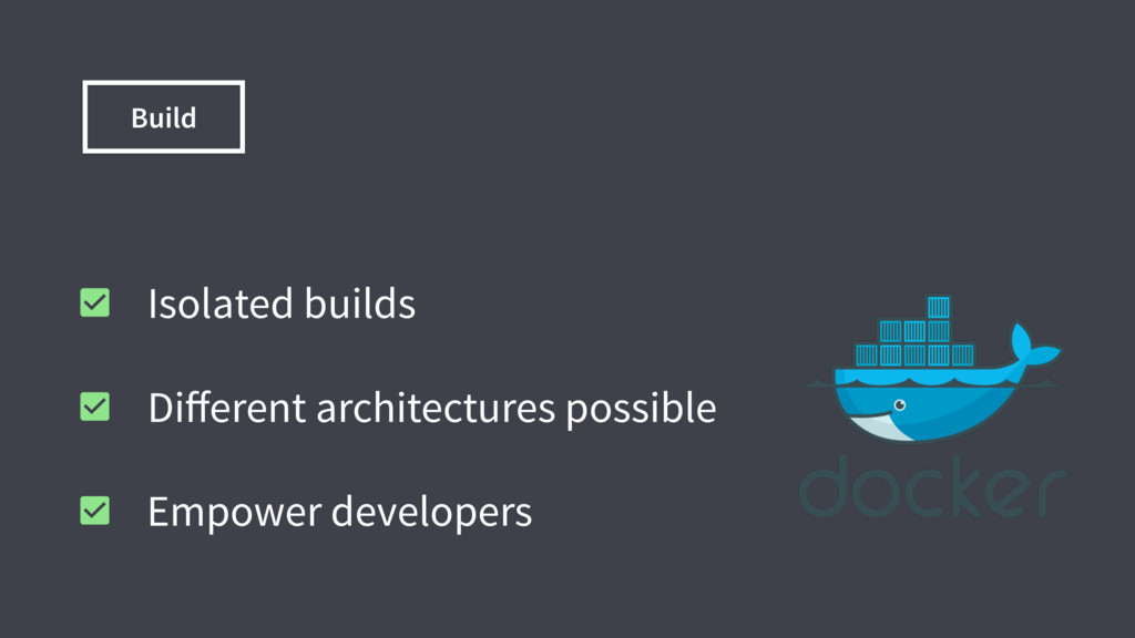 Build Isolated builds Different architectures po...