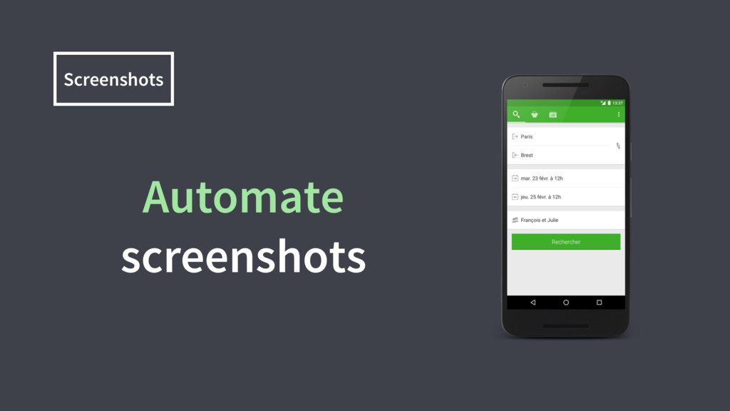 Screenshots Automate screenshots