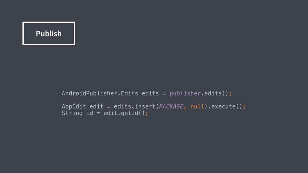 AndroidPublisher.Edits edits = publisher.edits(...