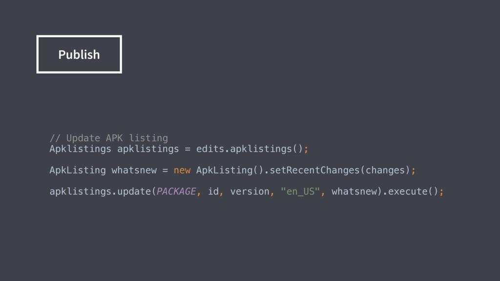 // Update APK listing Apklistings apklisting...