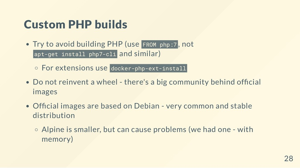 Custom PHP builds Try to avoid building PHP (us...