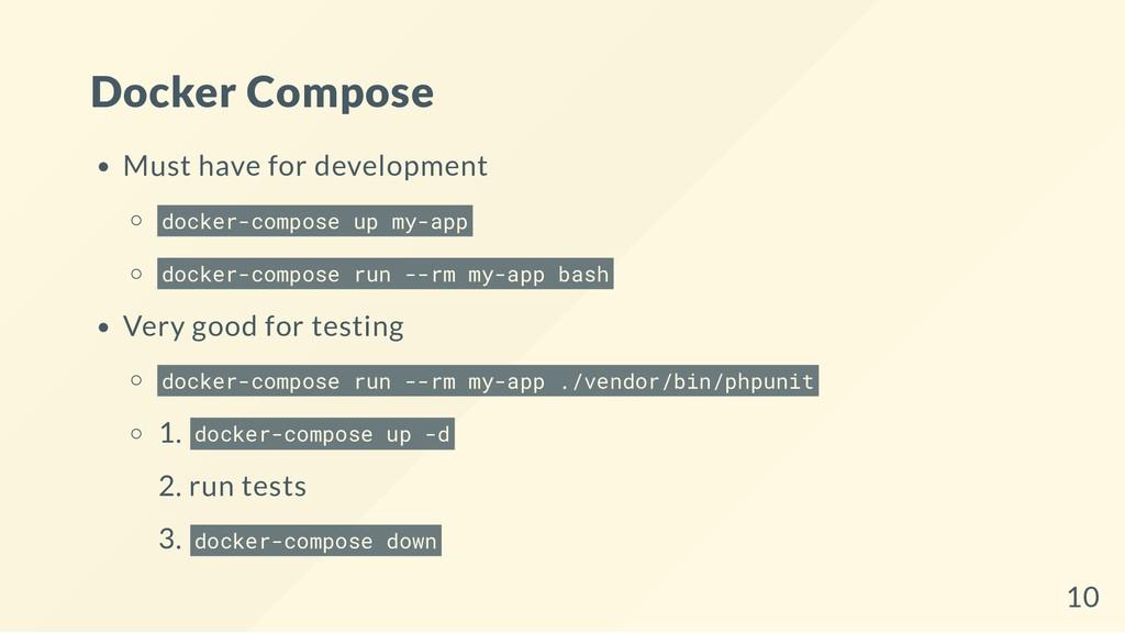 Docker Compose Must have for development docker...