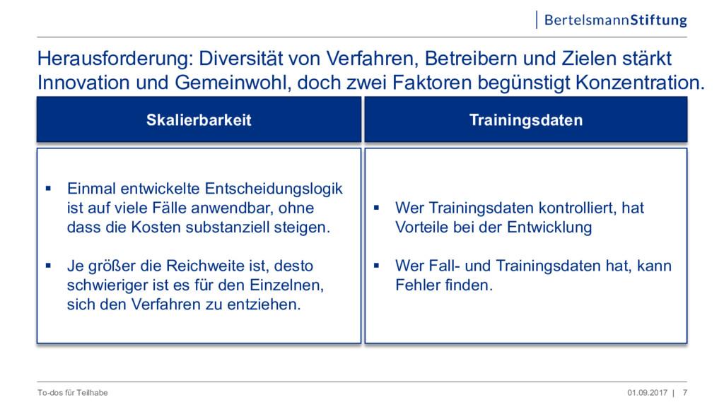 Herausforderung: Diversität von Verfahren, Betr...