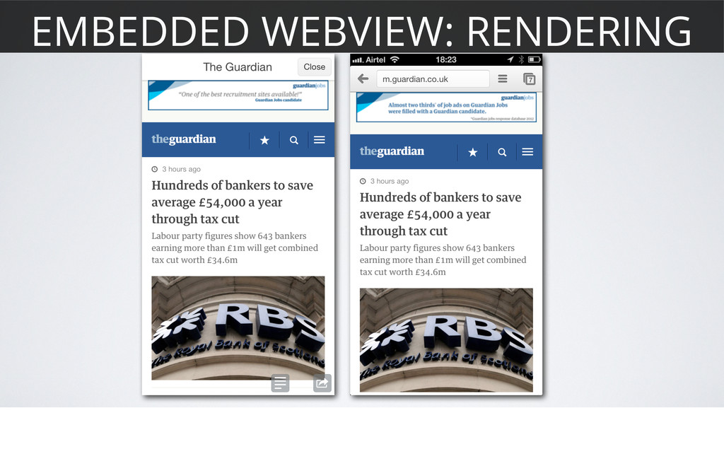 EMBEDDED WEBVIEW: RENDERING
