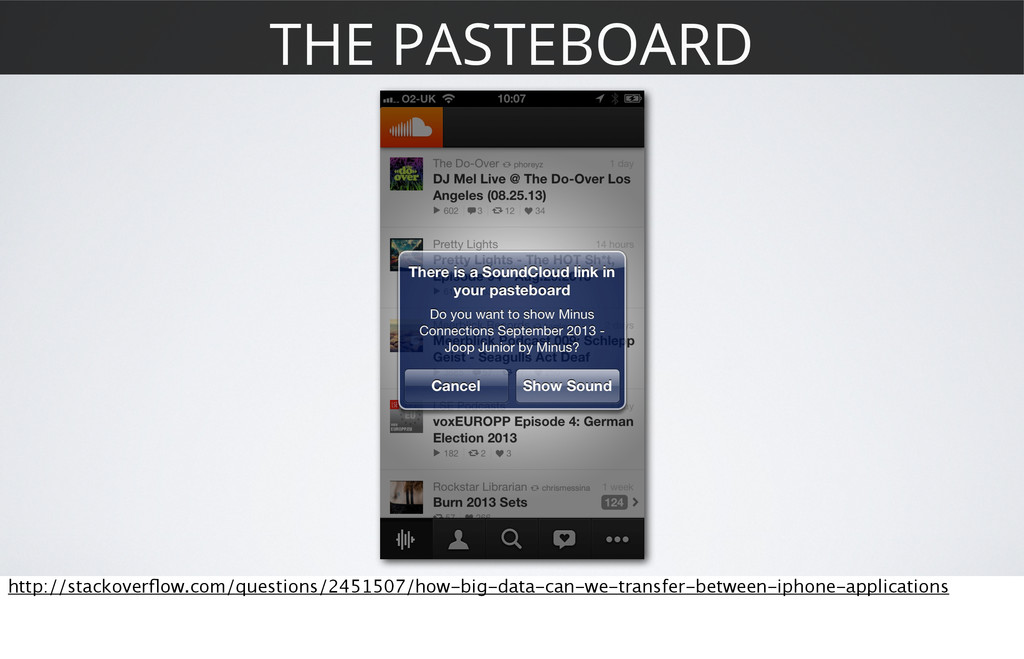 THE PASTEBOARD http://stackoverflow.com/question...
