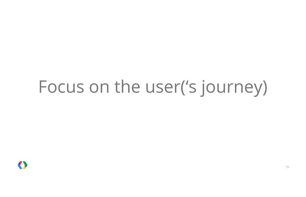 36 Focus on the user('s journey)