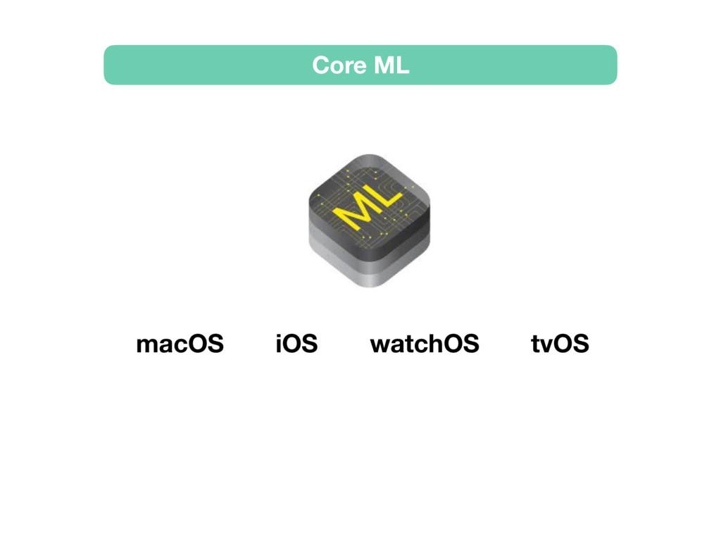 Core ML macOS iOS watchOS tvOS
