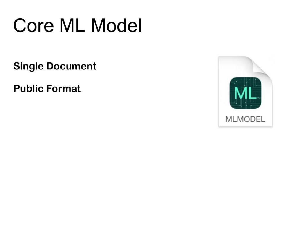 Core ML Model Single Document Public Format