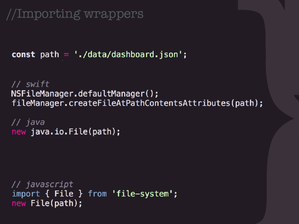 } //Importing wrappers