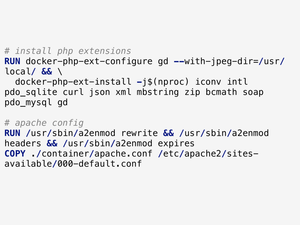 # install php extensions RUN docker-php-ext-con...