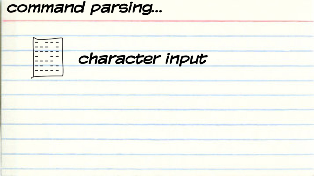 command parsing… character input