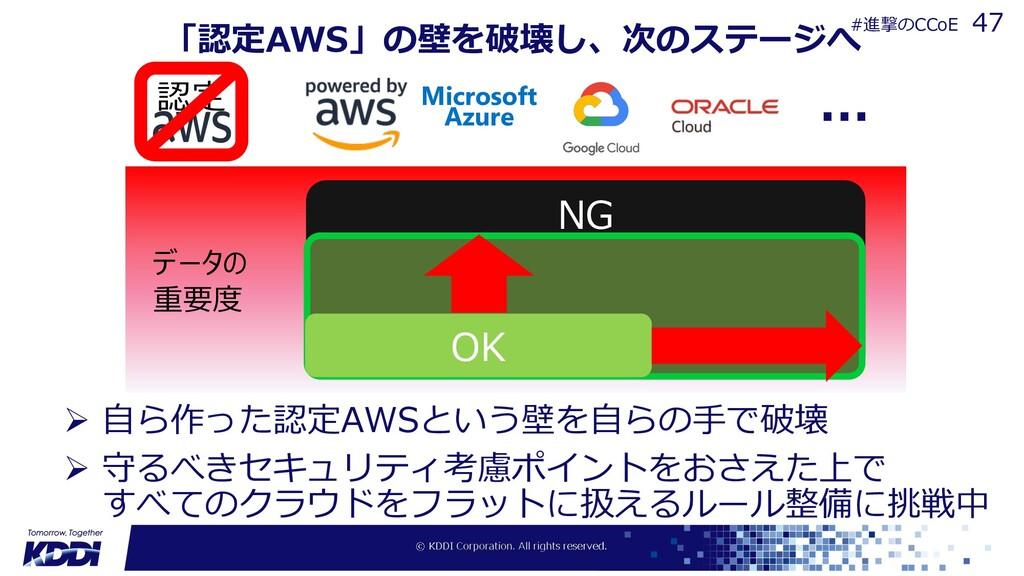 「認定AWS」の壁を破壊し、次のステージへ Ø ⾃ら作った認定AWSという壁を⾃らの⼿で破壊 ...