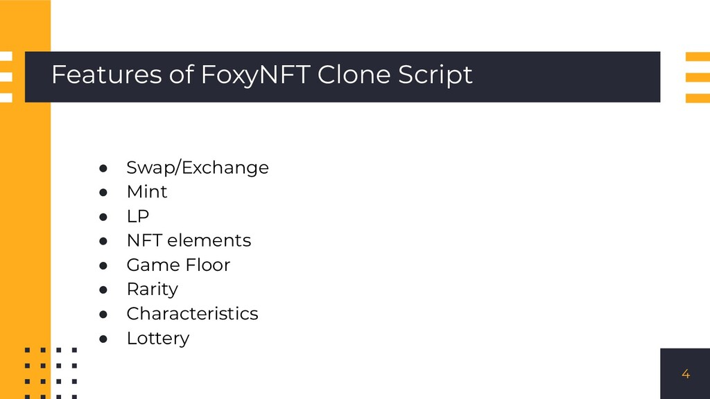 Features of FoxyNFT Clone Script ● Swap/Exchang...