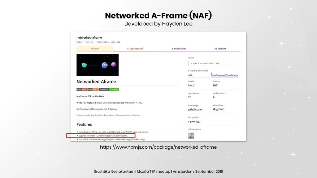 Networked A-Frame (NAF) Developed by Hayden Lee...