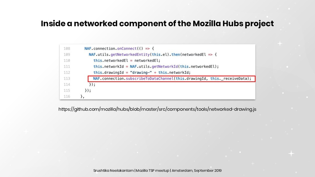 Inside a networked component of the Mozilla Hub...