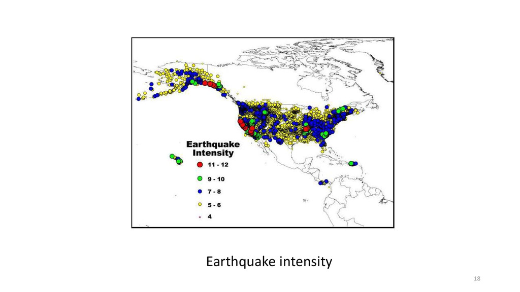 Earthquake intensity 18