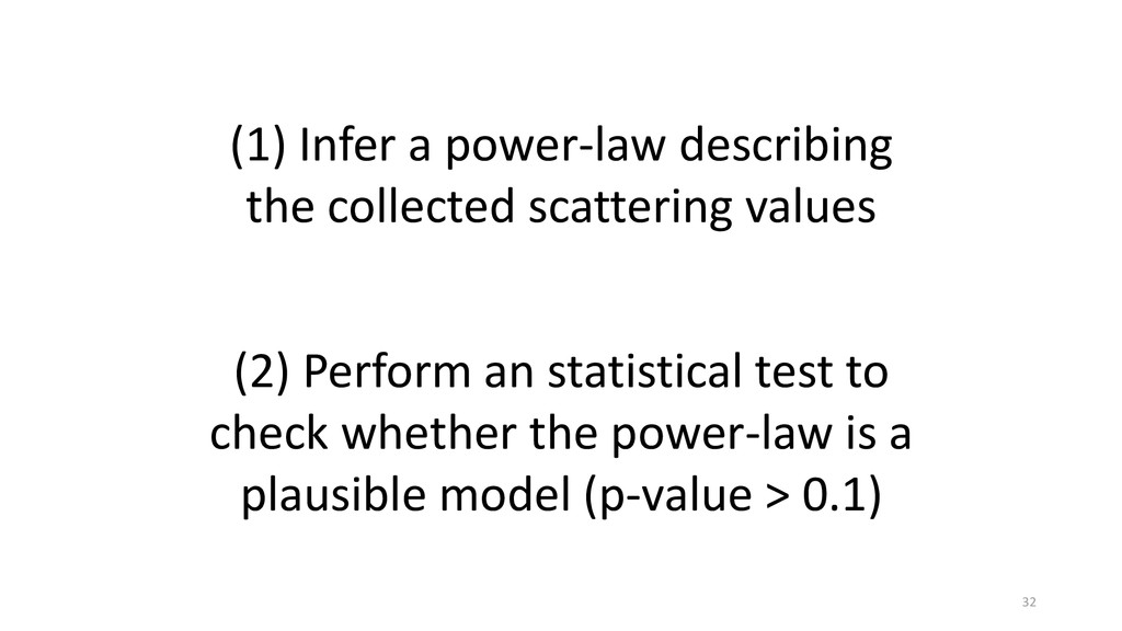 (1) Infer a power-law describing the collected ...