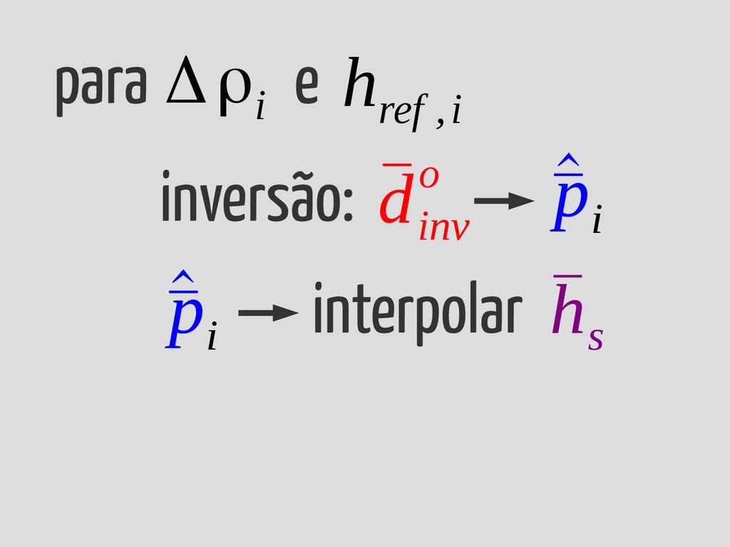 para e Δρi inversão: ¯ d inv o ¯ h s ^ ¯ p i in...