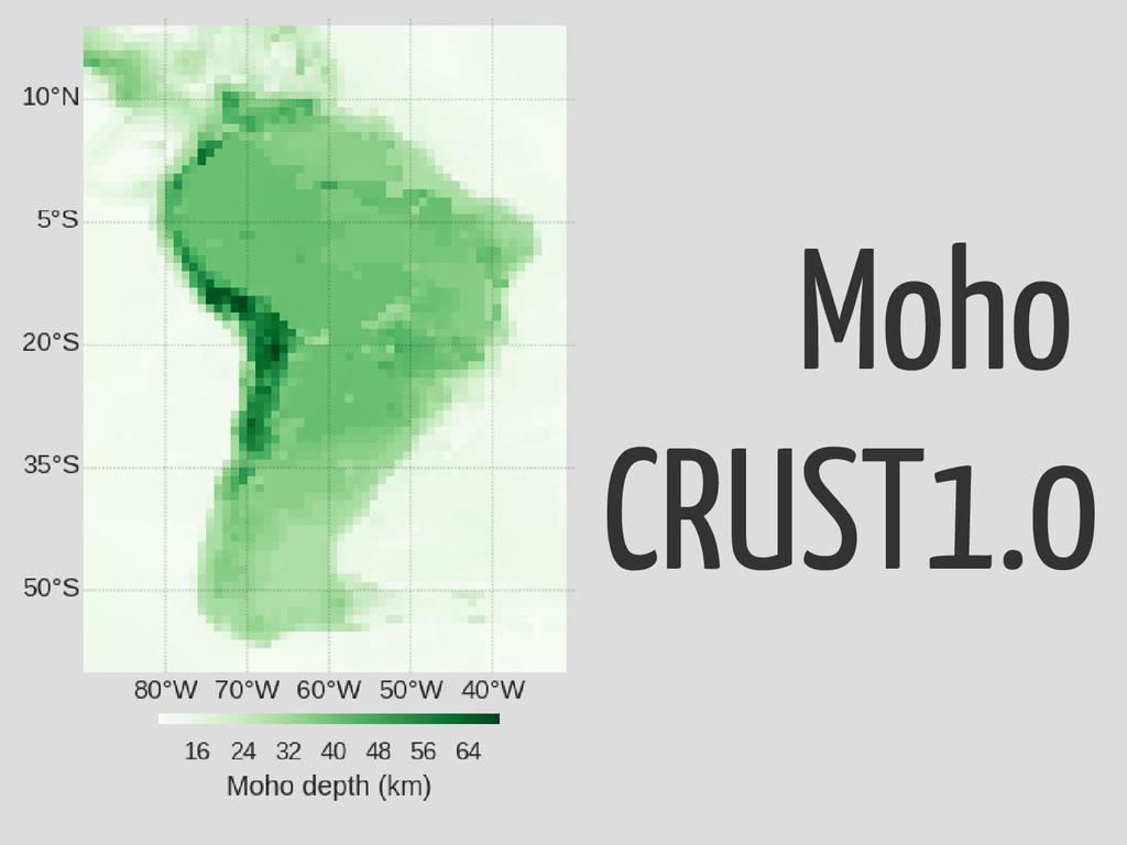 Moho CRUST1.0