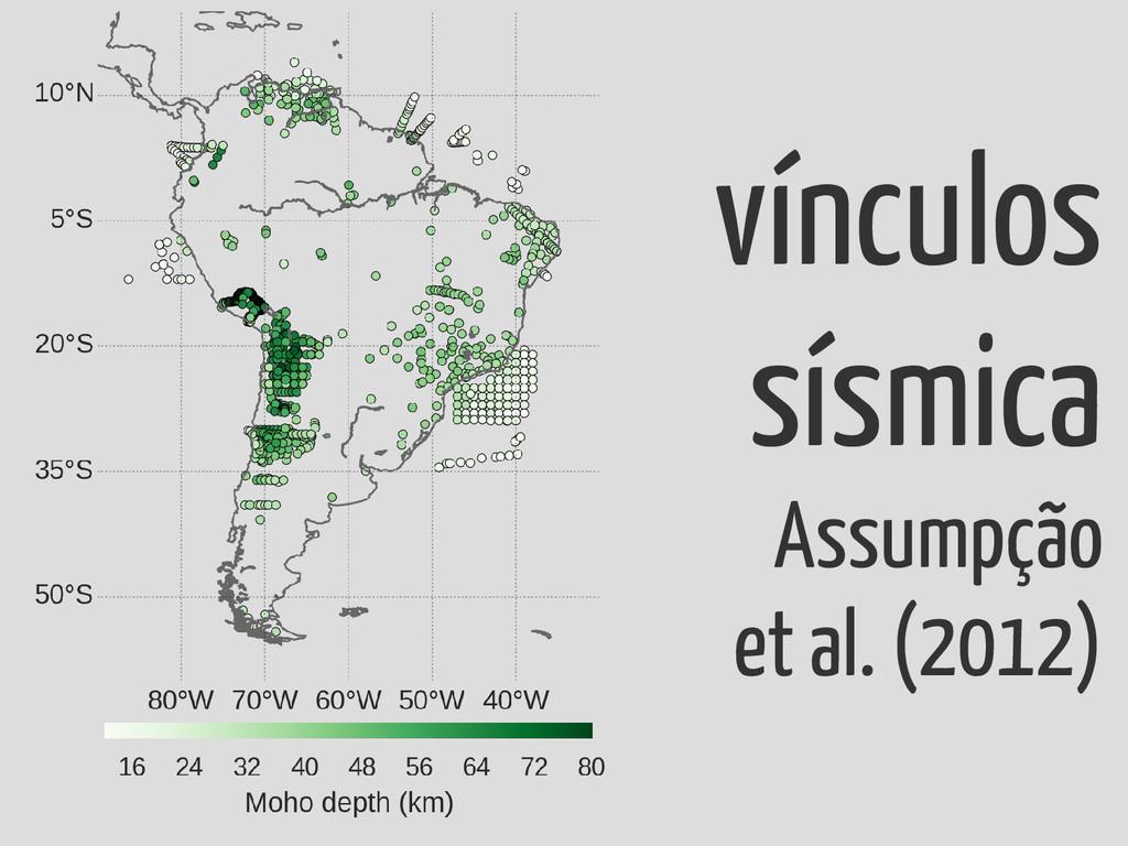vínculos sísmica Assumpção et al. (2012)