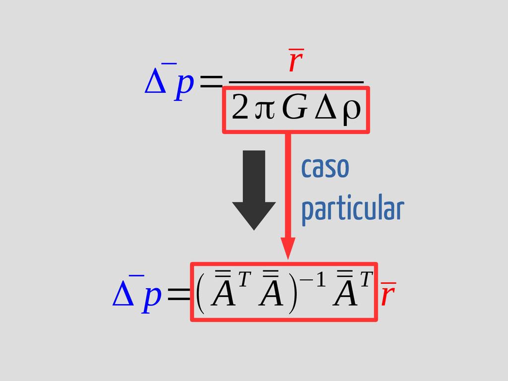 caso particular ¯ Δ p= ¯ r 2πG Δρ ¯ Δ p=( ¯ ¯ A...