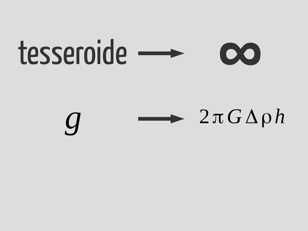 tesseroide ∞ g 2πG Δρh