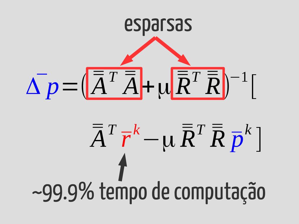 ¯ Δ p=( ¯ ¯ AT ¯ ¯ A+μ ¯ ¯ RT ¯ ¯ R)−1[ ¯ ¯ AT ...