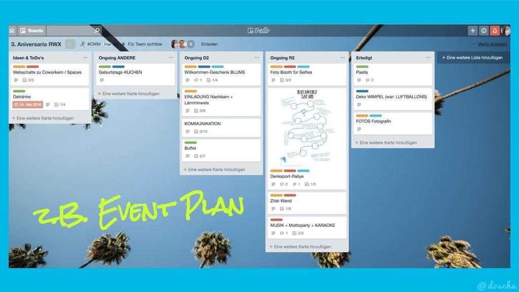 z.B. Event Plan